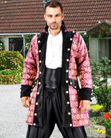 Purple Brocade Pirate Coat