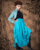 Step In Time Full Length Ruffle Skirt