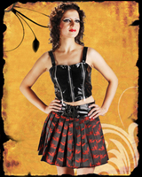 Punk Red Bats Mini Skirt