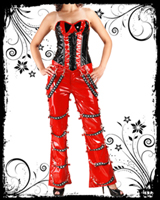 Bell Bottom Red PVC Trouser
