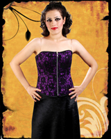 Purple Satin Corset