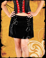 Gothic Velvet Ribbon Mini Skirt