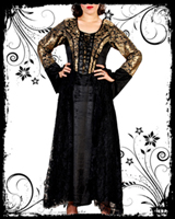 Golden Goddess Gothic Dress