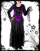 Purple & Black Long Gothic Dress II
