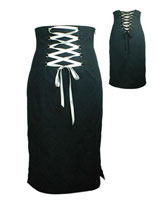 Punk Goth Switchblade Stiletto Corset Skirt (Black)