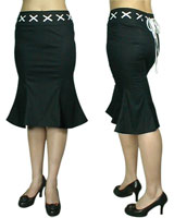 Gothic Fish Long Skirt