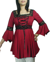 Gothic Blouse, Gothic Shirt, Gothic Corsets :  blouse shirts clothing skirts