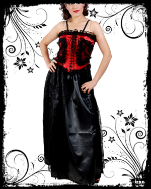 Black & Red Polyester Gothic Dress : Gothic Shirt, Gothic Corset, Gothic Dresses :  blouse goth shirts gothic corset gothic shirt