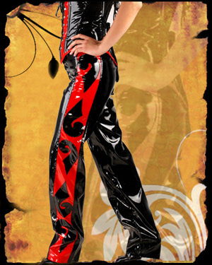 Black & Red Side Design Trouser