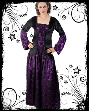 Long Gothic Dress : Gothic Corset, Goth Clothing, Gothic Blouse