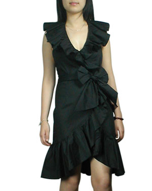 Ruffle Trim Backless Dress : Gothic Clothing, Gothic Corset