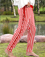 Sidestring Striped Pants