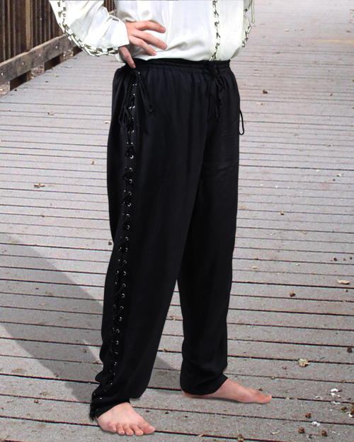 Lace-Up Pants