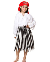 Girls Pirate Stripped Skirt