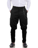 Steampunk Jodhpuri Pants - Black