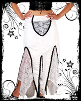 White Lacey Long Skirt