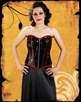 Red Piping Overbust Corset