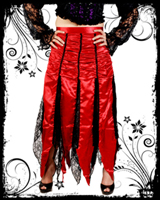 Red Gathered Skirt