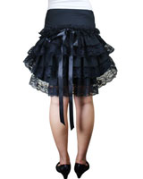 Sexy Goth Layered Showgirl Moulin Skirt