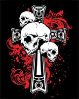 Cross with Skull T-shirt